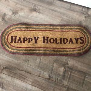 Jute Happy Holidays Table Runner